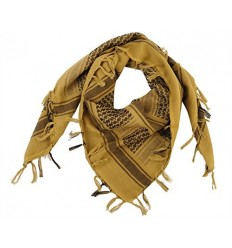 101 Inc. - Arafatka PLO Scarf 100% Cotton - Coyote Brown / Czarny