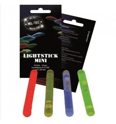 Mil-Tec - Zestaw 10 sztuk mini świateł chemicznych - Lightstick - 4,5x40mm - Kolor: Żółty