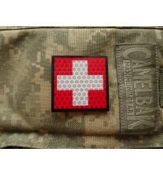 KAMPFHUND - Naszywka Krzyż - Czerwony - Gen I - F3