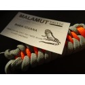 MALAMUT - Brelok surwiwalowy do kluczy IGUANA - Paracord 1,4m+0,5 (USA) - Grey / Orange