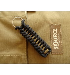 MALAMUT - Brelok surwiwalowy do kluczy IGUANA - Paracord 1,4m+0,5 (USA) - Black / Coyote Brown