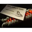 MALAMUT - Brelok surwiwalowy do kluczy IGUANA - Paracord 1,4m+0,5 (USA) - Red / Black