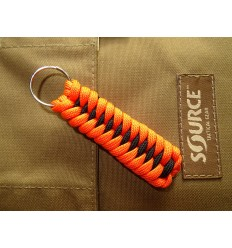 MALAMUT - Brelok surwiwalowy do kluczy IGUANA - Paracord 1,4m+0,5 (USA) - Orange / Black