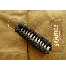 MALAMUT - Brelok surwiwalowy do kluczy IGUANA - Paracord 1,4m+0,5 (USA) - Black / Grey