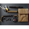 MALAMUT - Brelok surwiwalowy do kluczy Salamandra - Paracord 1m (MADE USA) - Coyote Brown
