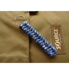 MALAMUT - Brelok surwiwalowy do kluczy Salamandra - Paracord 1m (MADE USA) - Blue Camo