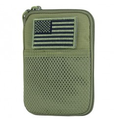 Condor - Organizer Pocket Pouch + US Flag Patch - Zielony OD - MA16-001