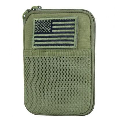 Condor - Organizer Pocket Pouch + US Flag Patch - Zielony OD - MA16-001