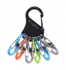 Nite Ize - Brelok do kluczy - Polycarbonate S-Biner KeyRack Locker - Czarny - KLKP-01-R3