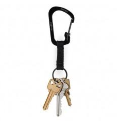 Nite Ize - Brelok do kluczy - SlideLock Key Ring 3' - Czarny - CSLW3-01-R6
