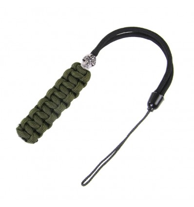 101 Inc. - Ogonek do noża - Knife Cord With Kevlar Cord 3'- Olive/Black