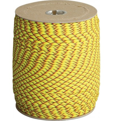Paracord MIL-SPEC 550-7 / 4mm kontraktowy Neon Yellow MADE IN USA - 1 metr