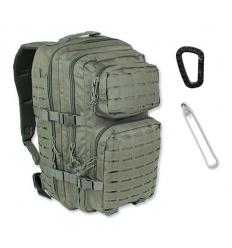 Mil-Tec - Plecak Large Assault Pack - Laser Cut - 36 Litrów - Zielony OD