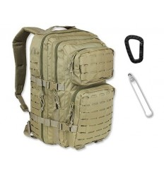 Mil-Tec - Plecak Large Assault Pack - Laser Cut - 36 litrów - Coyote Tan