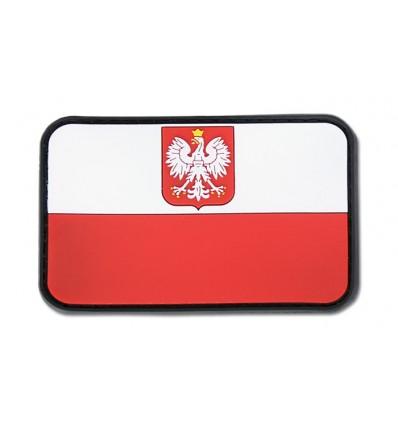 JTG - Naszywka Flaga Polska z Godłem 3D - Kolor