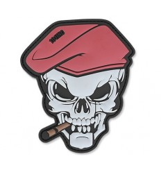 Patch - Naszywka SKULL CIGAR - 3D PVC - Full Color