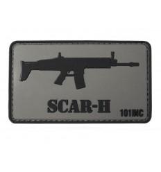 101 Inc. - Naszywka SCAR - 3D PVC - Szary/Czarny