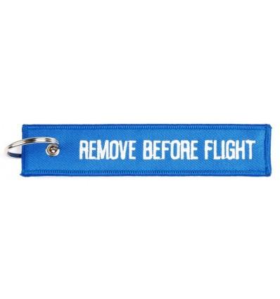 Brelok / Zawieszka do kluczy - REMOVE BEFORE FLIGHT - Niebieski