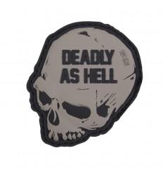 101 Inc. - Naszywka Deadly As Hell - 3D PVC - Szary