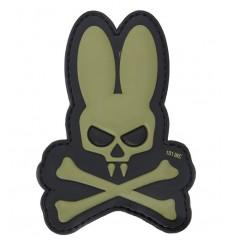 101 Inc. - Naszywka Skull Bunny - 3D PVC - Zielony OD