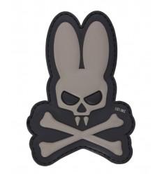 101 Inc. - Naszywka Skull Bunny - 3D PVC - Szary