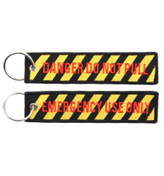 Brelok / Zawieszka do kluczy - DANGER DO NOT PULL / EMERGENCY USE ONLY