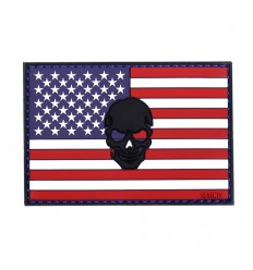 101 Inc. - Naszywa Skull USA - 3D PVC - Full Color