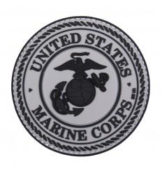 101 Inc. - Naszywka United States Marine Corps - 3D PVC - Szary