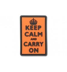 JTG - Naszywka Keep Calm and Carry On 3D - Pomarańczowy