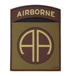 101 Inc. - Naszywka 82nd US Airborne Division - 3D PVC - Coyote Brown
