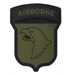101 Inc. - Naszywka 101nd Airborne US - 3D PVC - Coyote Brown