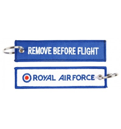 Brelok / Zawieszka do kluczy - REMOVE BEFORE FLIGHT - Royal Airforce - Niebieski