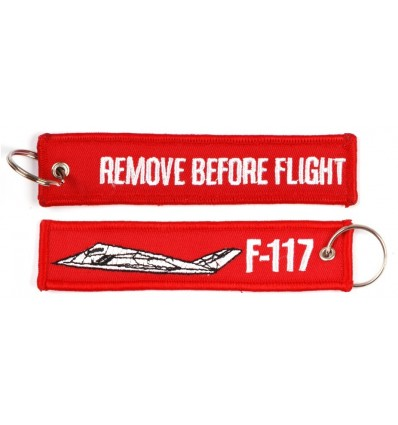 Brelok / Zawieszka do kluczy - REMOVE BEFORE FLIGHT - F-117 - Czerwony