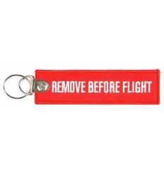 Brelok / Zawieszka do kluczy - REMOVE BEFORE FLIGHT - Heavy /Wzmocniony stalowy pin/ - Czerwony