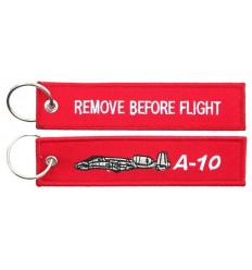 Brelok / Zawieszka do kluczy - REMOVE BEFORE FLIGHT - A-10 - Czerwony