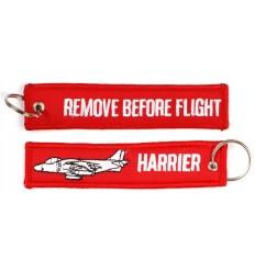 Brelok / Zawieszka do kluczy - REMOVE BEFORE FLIGHT - HARRIER - Czerwony