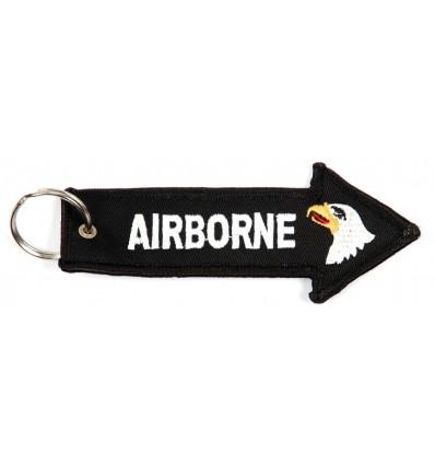 Brelok / Zawieszka do kluczy - AIRBORNE - Czarny