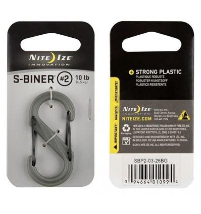 Nite Ize - Karabinek S-Biner 2' Plastic Black Gate - Foliage Green -SBP2-03-26BG