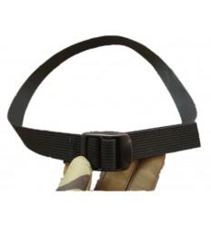 WISPORT - Trok z klamrą zaciskową - 100 cm /25mm/ - Czarny