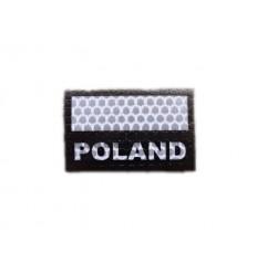 Combat-ID - Naszywka Polska - Gen I C4 - Biały/Czarny