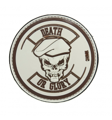 Patch - Naszywka DEATH OR GLORY - 3D PVC - Desert Tan
