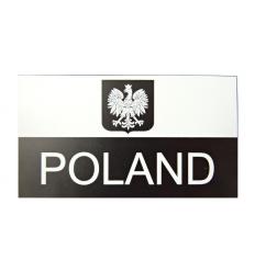 Combat-ID - Naszywka Herb - POLAND - Duża - Biały/Czarny - NIR