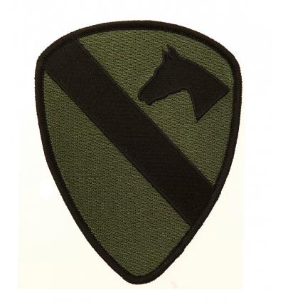 Patch - Naszywka U.S. 1st Cavalry Division - Gaszony olive