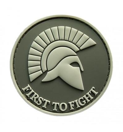 Mtac - Naszywka FIRST TO FIGHT - Grey