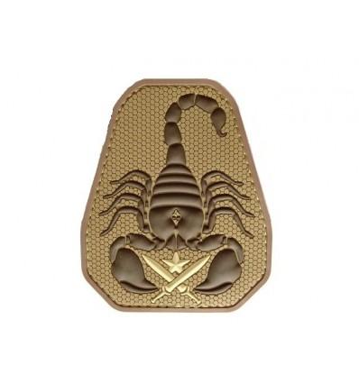 MIL-SPEC MONKEY - Naszywka Scorpion Unit - 3D PVC - Desert