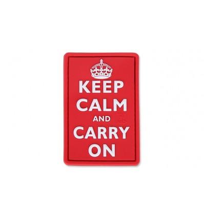 JTG - Naszywka 3D - Keep Calm and Carry On - Czerwony