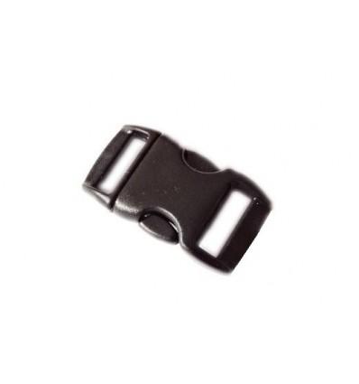 Mtac - Klamra do bransoletki surwiwalowej Fastex - 15mm - Czarny