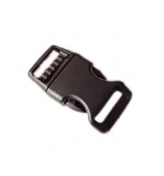 MALAMUT - Klamra do bransoletki surwiwalowej Fastex - 23mm - Czarny
