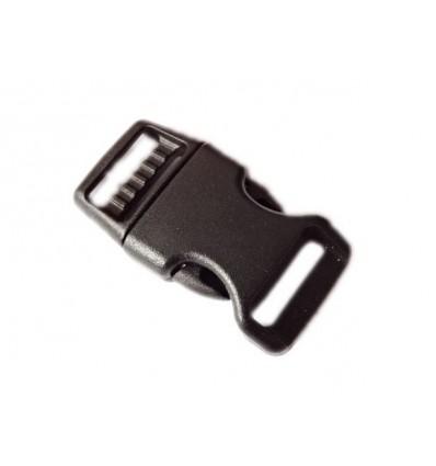 Mtac - Klamra do bransoletki surwiwalowej Fastex - 23mm - Czarny