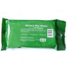 BCB - Wojskowe chusteczki nawilżane higieniczne - Military Wet Wipes - 25 sztuk - CS610